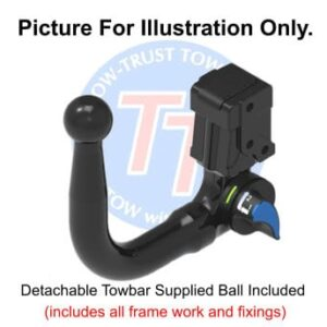 AUDI A1 (8X) (Not S line Or Quattro) 2010 Onwards Detachable Towbar